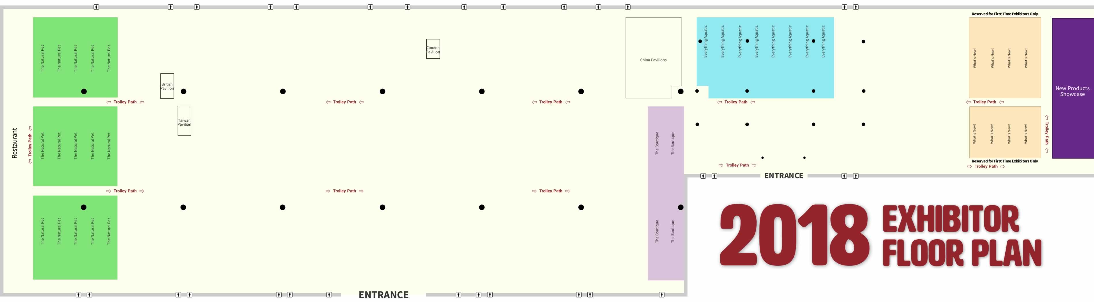 floor plan 2018 global pet expo exhibit hall